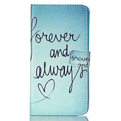 Για Samsung Galaxy Note Πορτοφόλι / Θήκη καρτών / με βάση στήριξης / Ανοιγόμενη tok Πλήρης κάλυψη tok Λέξη / Φράση Συνθετικό δέρμα Samsung