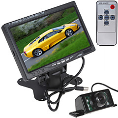7 pollici 800 x 480 a colori di vista dell'automobile schermo LCD posteriore del monitor con HDMI + 7 ir luci macchina fotografica di retrovisione