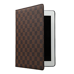 Folding Rhombus PU Leather Case with Stand for iPad 1/2/3/4 (Assorted Colors)