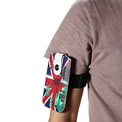Universal England Flag PU Leather Hang Wist Band Wrist Strap for Mobile Phone under 5.2 inch
