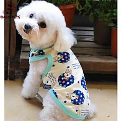 Gatos / Perros Camiseta / Pijamas Beige Verano Caricaturas / Letra y Número Boda / Cosplay