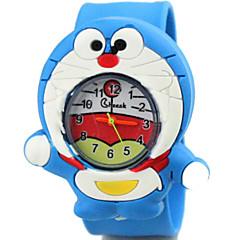 patrón doreamon silicona de dibujos animados lindo reloj de la palmada preciosa de cuarzo digitales de los niños
