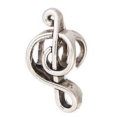 Diy Beads Metal Musical Notation Shape Large Hole Beads 10Pcs