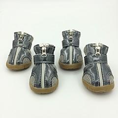 Azul/Morado/Plateado Material Mixto/Cuero PU - Calcetines y Botas - Perros -