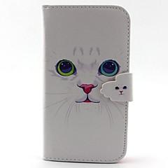 For Samsung Galaxy etui Kortholder Pung Med stativ Flip Etui Heldækkende Etui Kat Kunstlæder for Samsung S5 S4 Mini S3