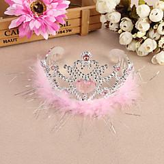 Bride Wedding Banquet Headwear Child Imperial Crown Rhinestone Hair Accessories Flower Girl Dresses Performance Headband