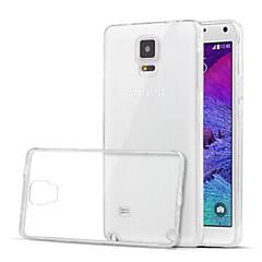 Για Samsung Galaxy Note Διαφανής tok Πίσω Κάλυμμα tok Μονόχρωμη TPU Samsung Note 4