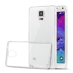 For Samsung Galaxy Note Transparent Etui Bagcover Etui Helfarve TPU for Samsung Note 4