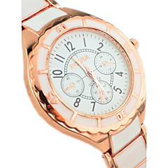 Couple's Simple Fashion Round dial Alloy Band Quartz  Wrist Watch Cool Watches Unique Watches