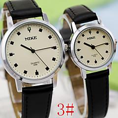 Retro Fashion Disc Quartz Watches Belts Couple (Assorted Colors)
