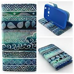Voor Samsung Galaxy hoesje Portemonnee / Kaarthouder / met standaard / Flip hoesje Volledige behuizing hoesje Geometrisch patroon PU-leer