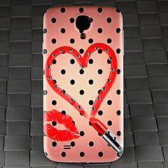 borra och svarta fläckar läppstift hjärta mönstrar pc tillbaka täcker fallet för Samsung Galaxy S4 / 9500