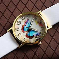 Heren / Dames / Uniseks Modieus horloge Kwarts PU Band Vlinder Zwart / Wit / Bruin Merk-