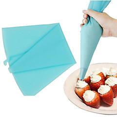 crema decoración manga pastelera de silicona herramienta de punta pasteles pequeño pastel de tamaño (1 unidad)