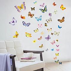 многофункциональный DIY ПВХ форма бабочки декоративные наклейки (60pcs / комплект)