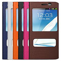 uwei lehmän nahka lompakko täynnä kehon tapauksessa älykkäitä lepotilaan ja kiinnike Samsung Galaxy Note2