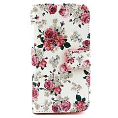 virágok mintás műbőr TPU teljes test esetében a kártya tulajdonosa Samsung Galaxy alfa / grand neo / fő plusz