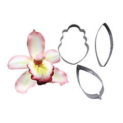 Négy-c Cymbidium orchidea szirom virág vágó, tortát díszítő eszközöket, fondant vágó cupcake penész sütés eszközök