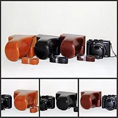 dengpin pu Leder Kamera Tasche decken mit Tragegurt für Canon Powershot G3 x (verschiedene Farben)