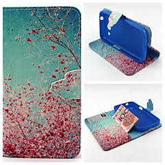 Cherry Blossoms Pattern Full Body Cover with Card Slot for Samsung Trend 3 G3500/G355H/G357/G360/G386F/G850F/G5308W