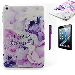 livet är vackert mönster TPU mjuk baksida täcker fallet för iPad mini 3 / iPad mini 2 / iPad mini