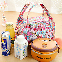 μονωμένα πικ-νικ θερμική τσάντα ψύκτη γεύμα tote τσάντα αποθήκευσης ταξιδιού (τυχαία χρώμα)