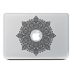 망막 디스플레이 / 프로 / 프로 맥북 에어 검은 꽃 장식 피부 스티커