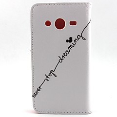 For Samsung Galaxy etui Pung Kortholder Med stativ Flip Etui Heldækkende Etui Ord / sætning Kunstlæder for SamsungCore Prime Core Plus