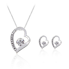Fashion And Personality Heart-Shaped Necklace set