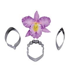 Négy-c Cymbidium orchidea szirom virág vágó, tortát díszítő eszközöket, fondant penész vágó cupcake penész sütés eszközök