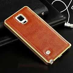 Για Samsung Galaxy Θήκη Επιμεταλλωμένη tok Πίσω Κάλυμμα tok Μονόχρωμη Γνήσιο δέρμα Samsung A7 / A5 / A3