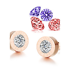 ailaicity®(Send Four Zircon)AAA Zirconium Rose Gold Earrings