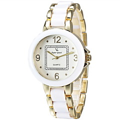 V6® Women Fashion Alloy Gold Fashion Watch Cool Watches Unique Watches