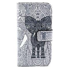 elefantti pattern pu nahka tpu koko kehon kohdalla kortin haltija Samsung Galaxy alpha / grand neo / ydin plus