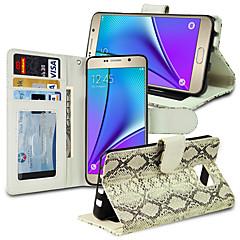 orm mönster flip pu + tpu plånbok läderfodral med kortplatser för samsung galaxy Not5 n9200 5,7 tum (diverse färg)