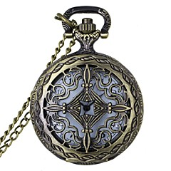 Fashion Hollow Out Cross-shaped Vintage Alloy Quartz Analog Pocket Watch With Chains   (1 x LR626) Cool Watch Unique Watch