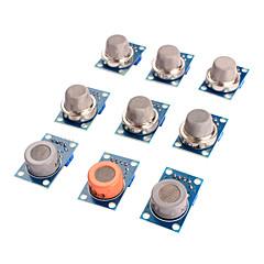 kaasuanturi MQ-2 MQ-3 MQ-4 MQ-5 MQ-6 MQ-7 MQ-8 MQ-9 MQ-135 anturi pakki moduuli Arduino