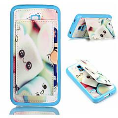 Sponge Bob Pattern Phone Shell  Card Holder For Samsung Galaxy S3 /S4/S5/S6/ S6 edge/S4 Mini /S5 Mini