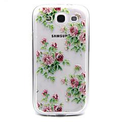 Róże różowe kwiaty wzór TPU akrylowy pokrowiec do Samsung Galaxy S3 / S4 galaxy / galaxy s5 / galaxy S6 / galaxy s6 krawędzi