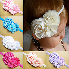 Infant Headbands Shabby Chic Flowers Pearl Rhinestone Chiffon Flowers Baby Headband Girls Hair Accessories