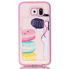 Hamburger Pattern Phone Shell  Card Holder For Samsung Galaxy S3 /S4/S5/S6/ S6 edge/S4 Mini /S5 Mini