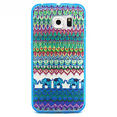 Stripe Pattern Transparent PC and TPU Combo Phone Case for Samsung Galaxy S6/S5/S4/S3/S6edge