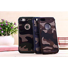For iPhone 5 etui Stødsikker Etui Bagcover Etui Camouflage Hårdt PC for iPhone SE/5s/5