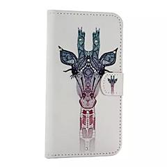 Varten Samsung Galaxy kotelo Korttikotelo / Tuella / Flip / Kuvio / Magneetti Etui Kokonaan peittävä Etui Eläin Tekonahka SamsungA8 / A7