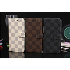 iPhone 7 Plus Flip Case Lattice Wallet Case Simple PU Mobile Phone Shell for iPhone 6s 6 Plus
