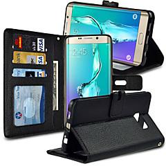 padrão lichee angibabe pu estojo de couro carteira de borda Samsung Galaxy S6 mais g9280 5,7 polegadas (cores sortidas)