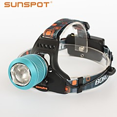 SUNSPOT HL680 3 Mode 600 Lumens Headlamps Rechargeable / High Power LED Cree XM-L T6 / Cree XP-E R3