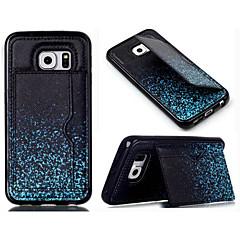 Кожа PU силиконовой кошелек случаи с подставкой заднюю крышку для Samsung Galaxy S3 / S4 / S4 мини / S5 / S5 мини / s6 / s6 края
