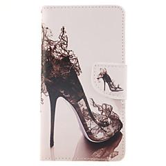 Varten Samsung Galaxy Note Lomapkko / Korttikotelo / Tuella / Flip Etui Kokonaan peittävä Etui Seksikäs nainen Tekonahka Samsung Note 4