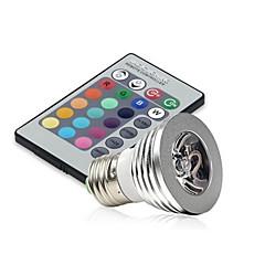 E14 GU10 E26/E27 Luz de LED para Cenários MR16 1 LED de Alta Potência 250 lm RGB Regulável Controle Remoto Decorativa AC 85-265 V 1 pç